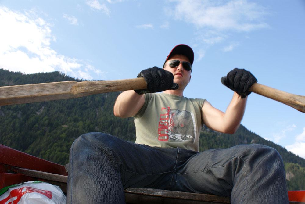 Andreas Zachbauer beim Schleppangeln
