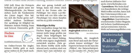 Linzer werfen die Angel aus (2017/01, BezirksRundschau)